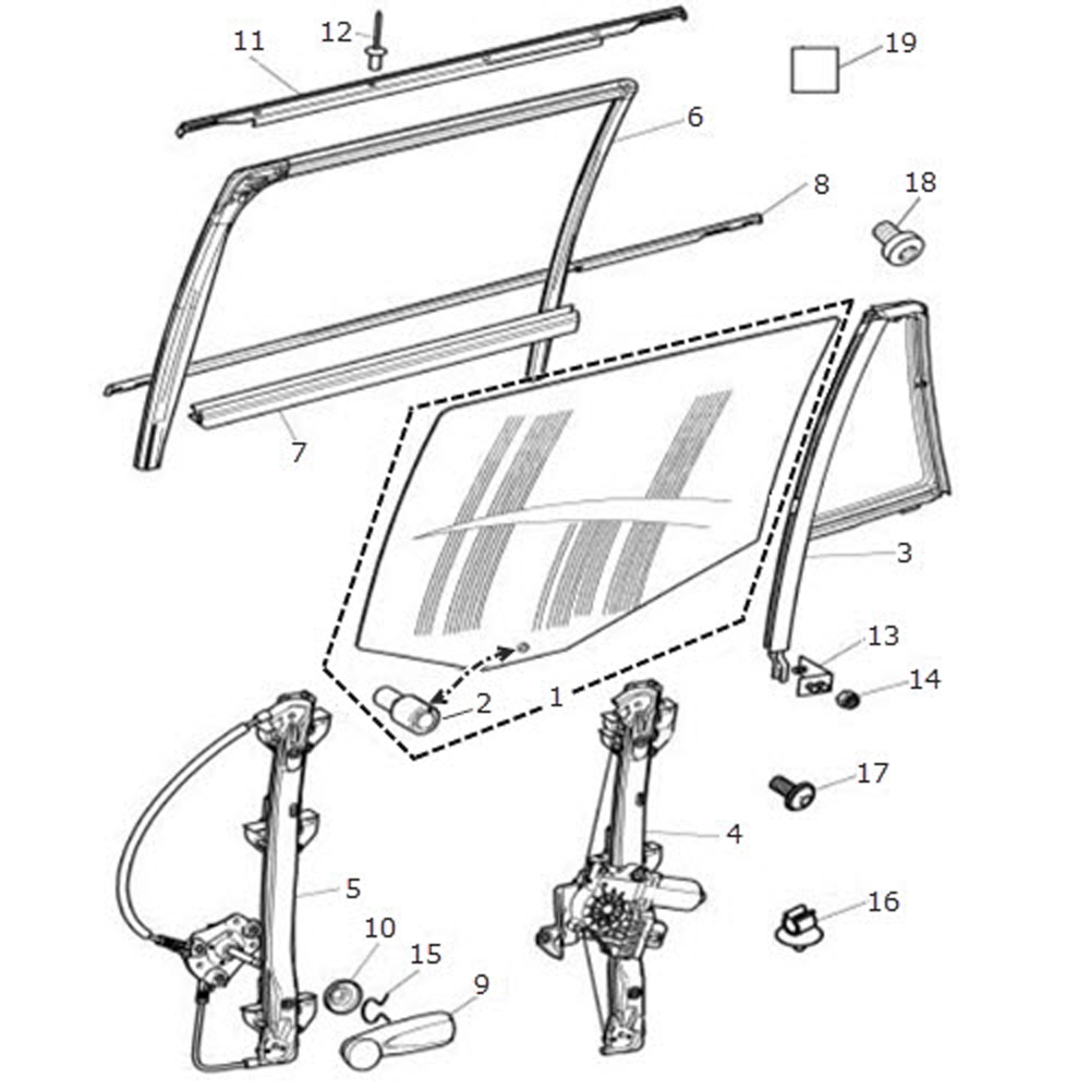 Jaguar Window Regulator Diagram on model kits