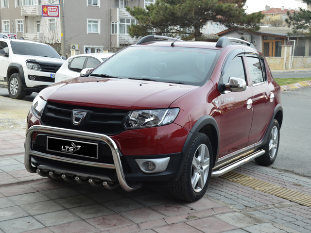 dacia sandero stepway rear spolier bar rear guard bull bar. Black Bedroom Furniture Sets. Home Design Ideas