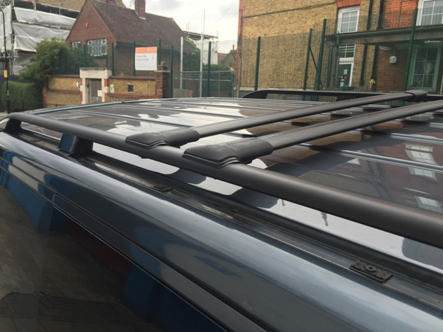 Vw T5 T6 Transporter Black Aluminium Roof Rack Cross Bars