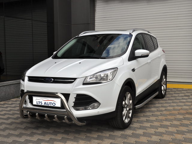 ford kuga chrome axle nudge a bar bull bar 2013 2015 models ebay. Black Bedroom Furniture Sets. Home Design Ideas