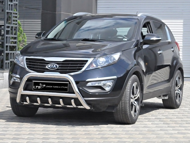 kia sportage 2010 2015 chrome axle nudge a bar bull bar ebay. Black Bedroom Furniture Sets. Home Design Ideas