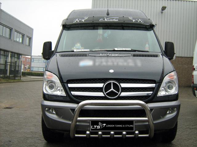 Mercedes sprinter w906 stainless steel chrome nudge a bar for Mercedes benz sprinter bull bar