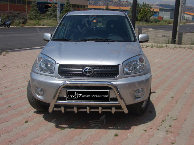 Toyota Rav4 2000 2005 Chrome Axle Nudge A Bar Bull Bar