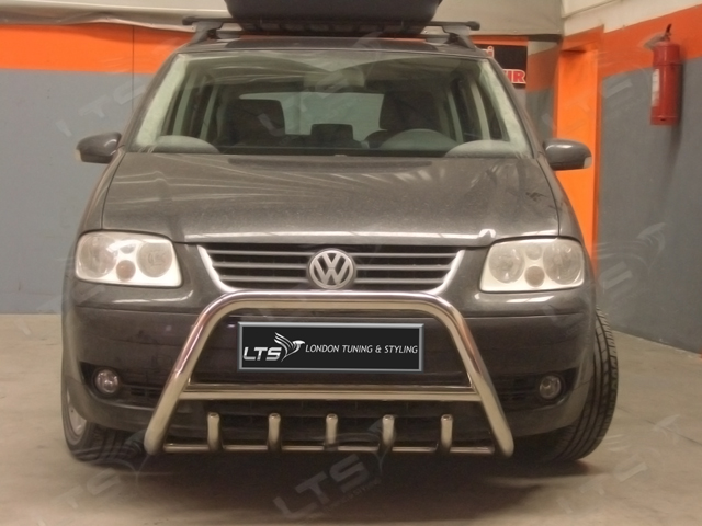 Vw Touran Chrome Axle Nudge A Bar Stainless Steel Bull Bar 2003