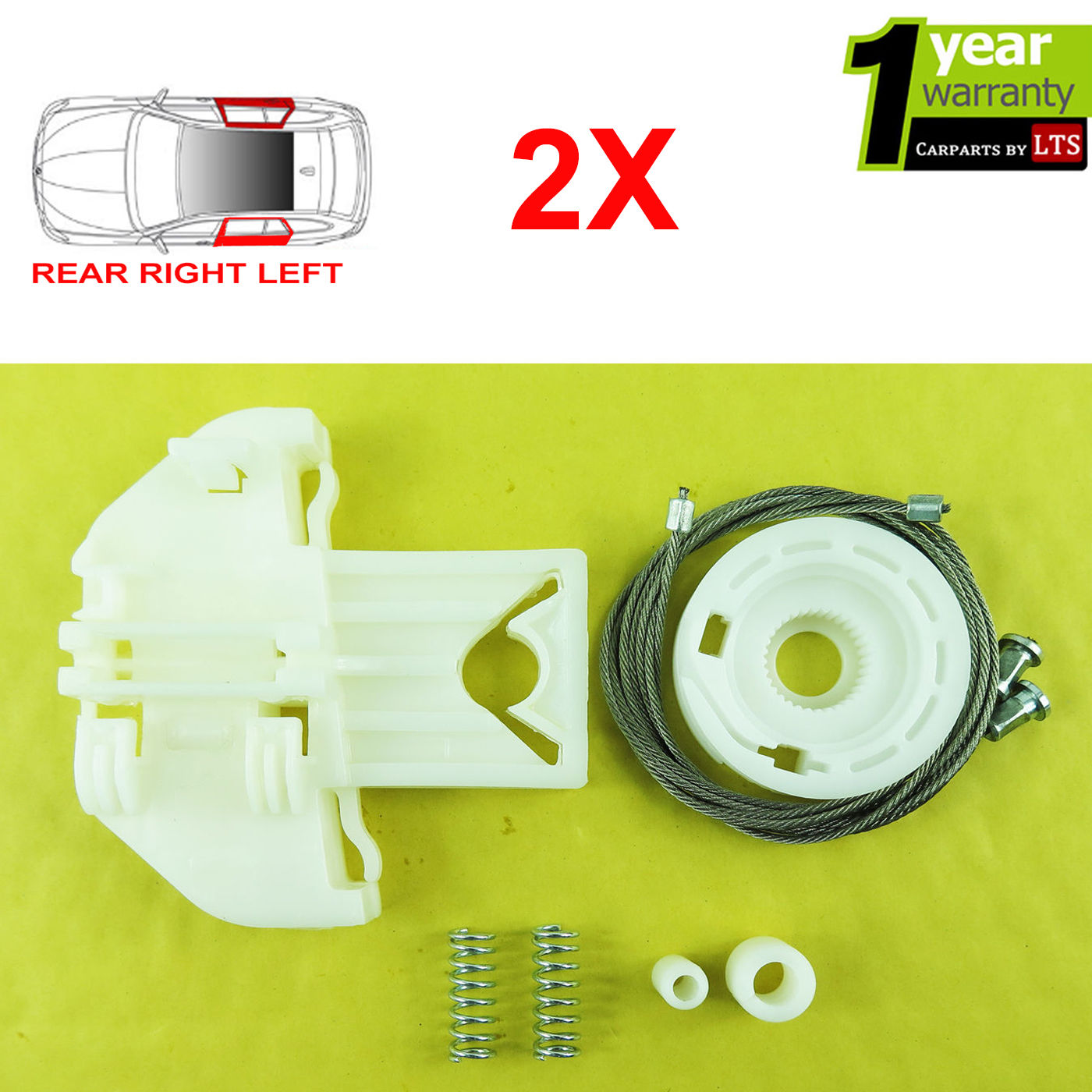 Details About 2x Ford Focus Electric Window Regulator Repair Kit Rear Right And Left