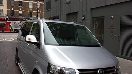 Ford Transit Custom Van Aluminio Negro Bastidores De Techo Carril Barras corto base de la rueda
